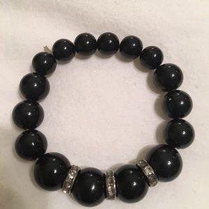 Jewelry - Handmade black beaded bracelet